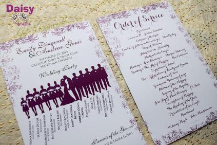 Purple Antique Program and Order of Service