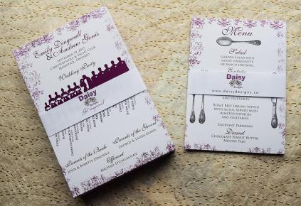 Purple Antique Programs and Menus