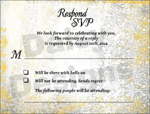 Antique Silver RSVP