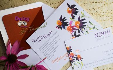 Saffron Daisy invite / rsvp