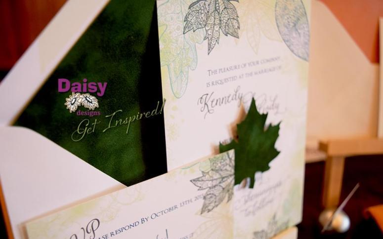 Velvet Leaves invite/rsvp
