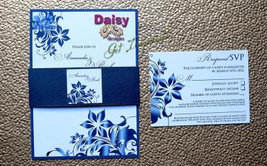 Navy Blossoms belly band