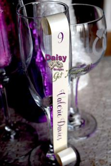 majestic purple lace curled placecard