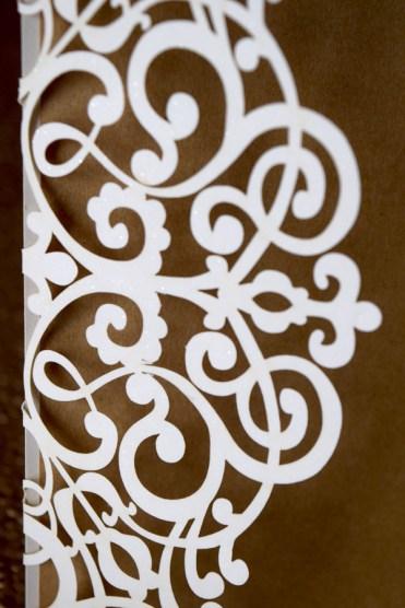 Laser-Cut White on Kraft