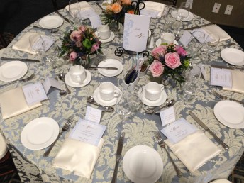 VIP table setting at LGBTQ+ wedding show | stationery by Daisy Designs