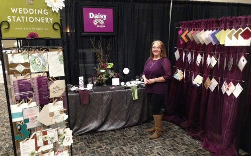 Tammy D'Entremont in the Daisy Designs' booth at LGBTQ+ wedding show