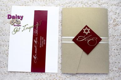 Gold Pocket Swirl pocket and envelope