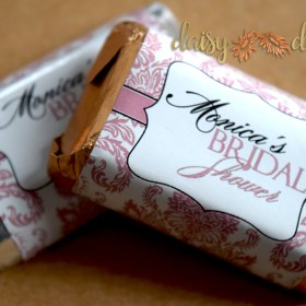 image of Damask Chocolate wrapers