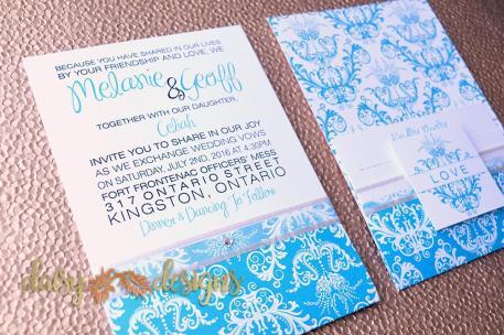 Turquiose Royale invitations