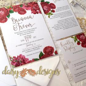 English Roses basic invite set