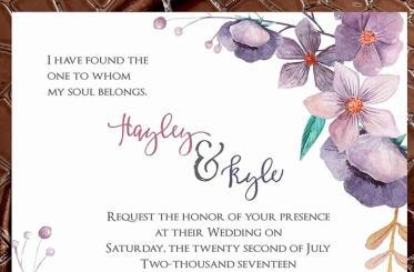 Hayley Boho Invite closeup