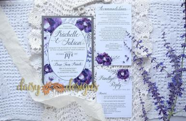 Purple Silver suite with options