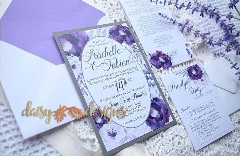 Purple Silver Invite