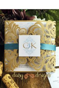gold laser cut invitations