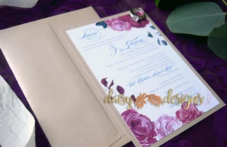 Romantic Blossoms invitation