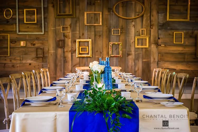 Kate and Justin wedding table set