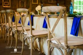 Kate and Justin wedding chairs decor