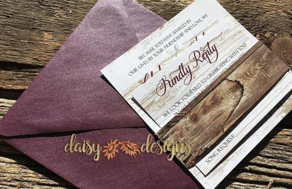 Burgundy Barn suite with belly band