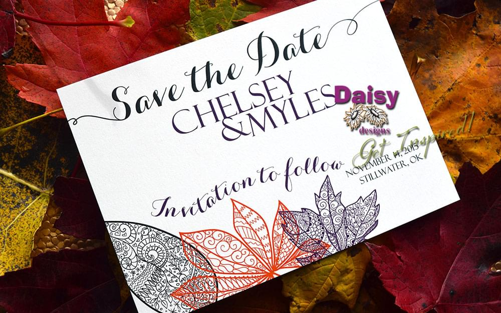 Chelsey's Autumn Rhapsody Save The Date