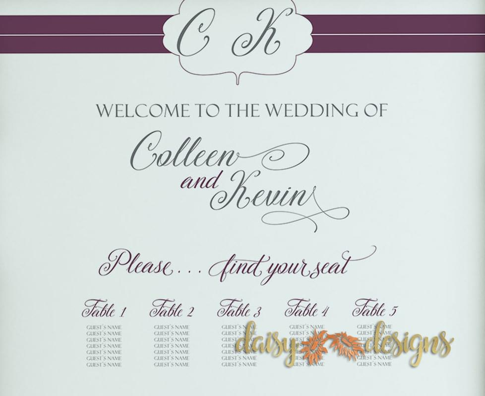 Plum Lines Seating Chart Details