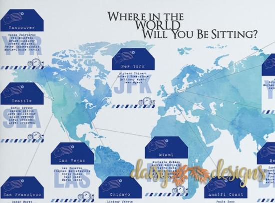 Where in the World Seating Chart details