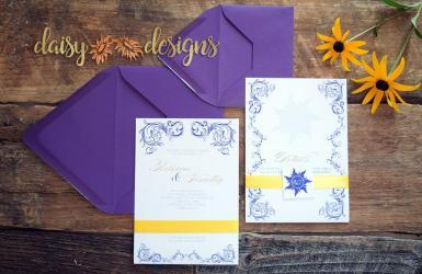Rapunzel Wedding Invite suite