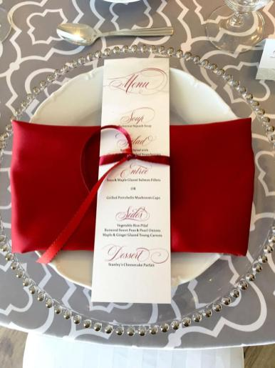 Scarlet and Silver menu
