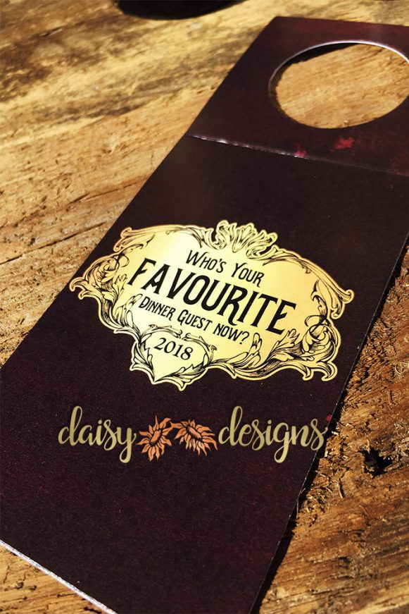 Favourite Dinner Guest wine tags