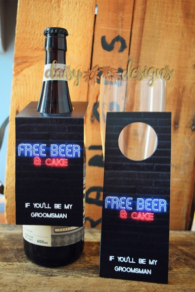 Free Beer and Cake - Beer Bottle tag