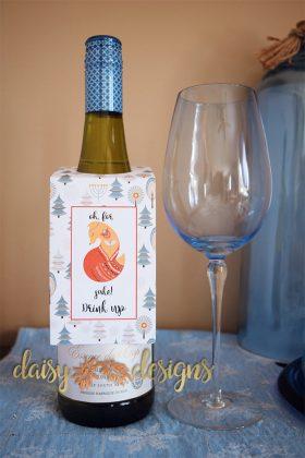 Fox Sake wine tag
