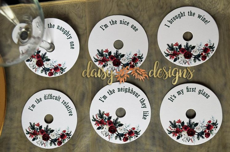 Fun Holiday Wine Charms