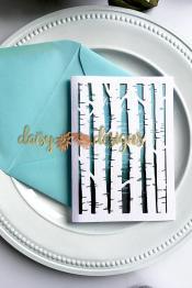 Birch Tree invite and envelope