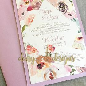 Blush Rose invite and RSVP