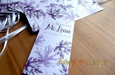 Fall Leaves Grape bookmarks