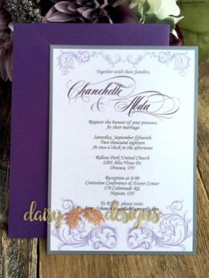 Just a Faerie Tale - invite with upgraded purple envelope