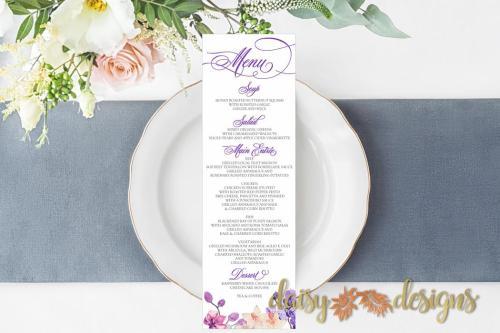 Orchids menu