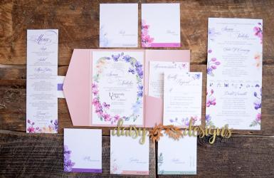 Orchids wedding invite suite