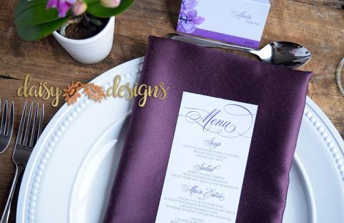 Orchids menu details