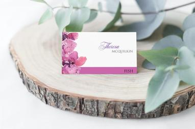 Orchids seating card