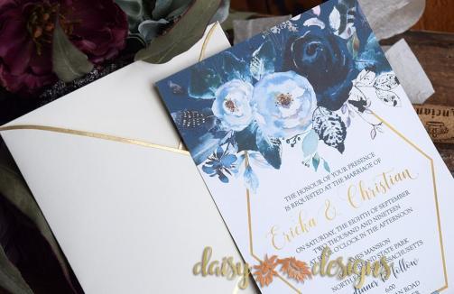 Creamy Peonies - invite closeup