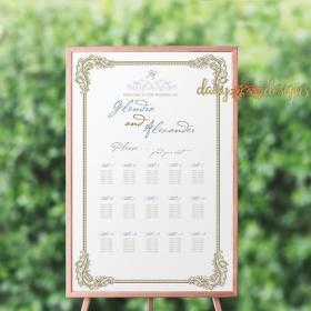 Ornate Filigree Seating Chart