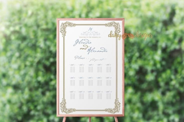 Ornate Filigree Seating Chart