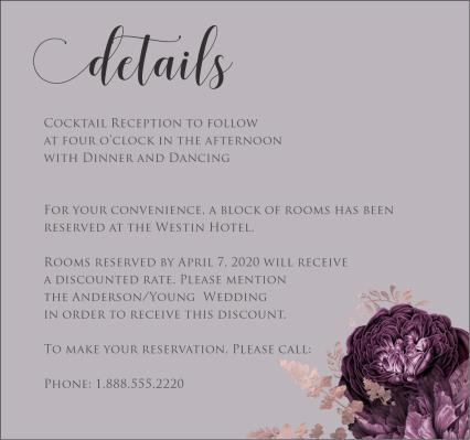 Moody Mauve Roses details card