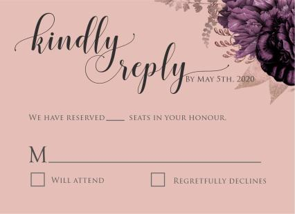 Moody Mauve Roses RSVP coral
