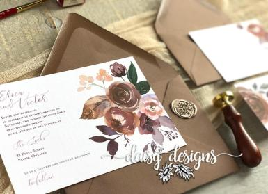 Butter Rum Boho - Basic invite and wax seal