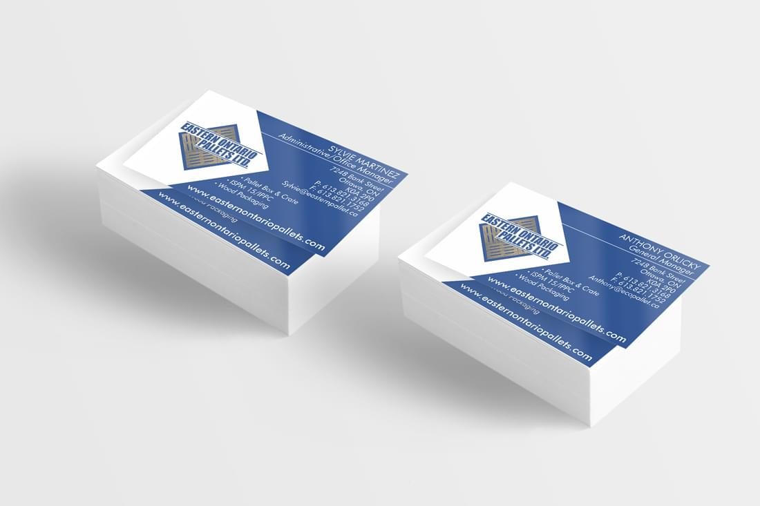 Business card - Eastern Ontario Pallets