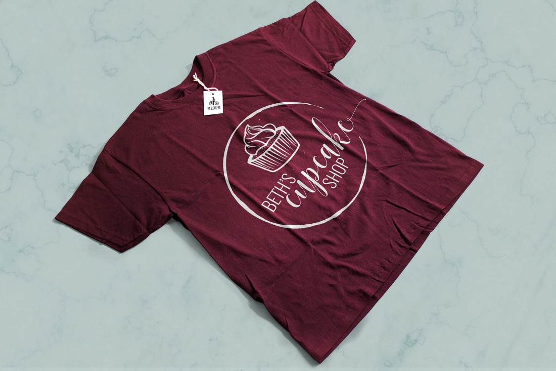 Cupcake shop logo T-shirt
