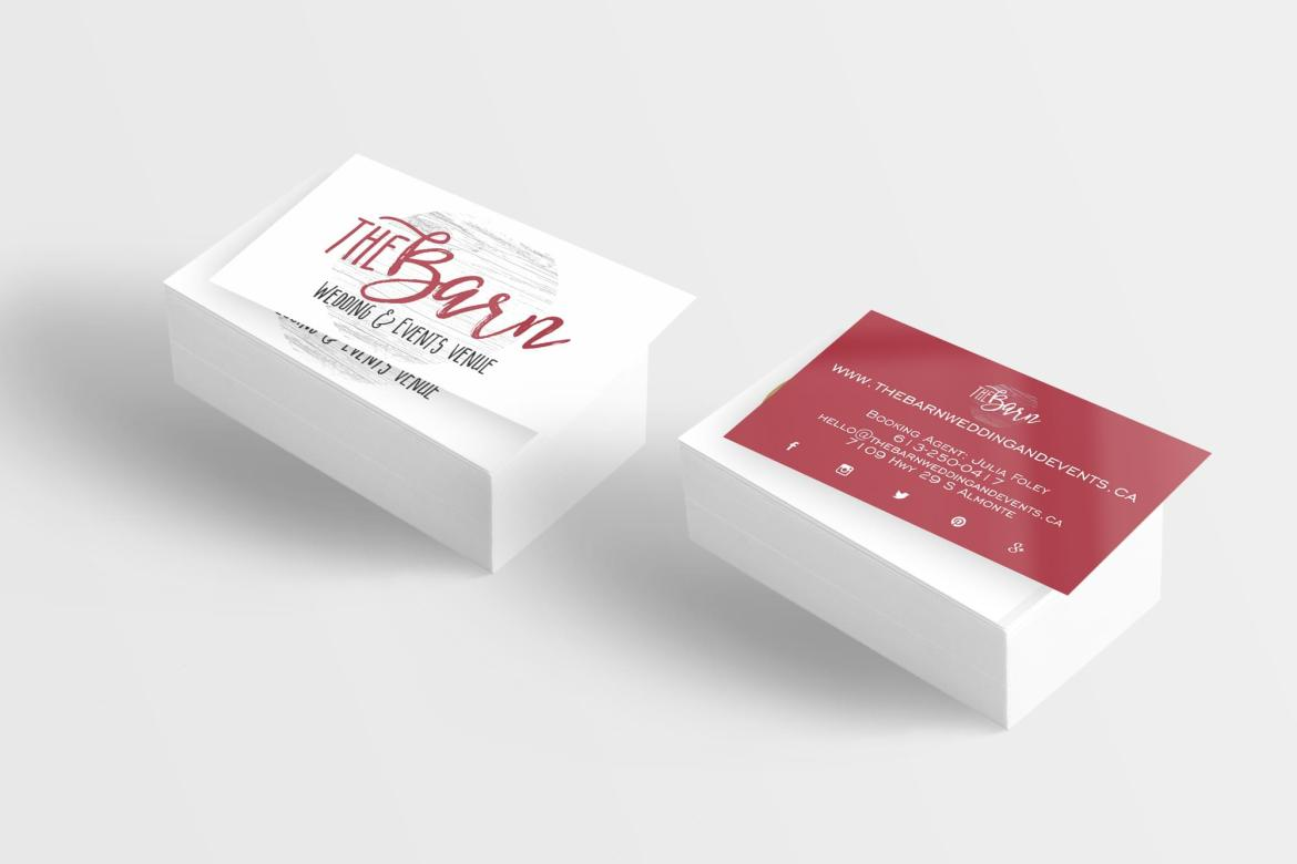 business card - The Barn