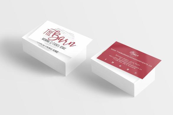 business card - The Barn
