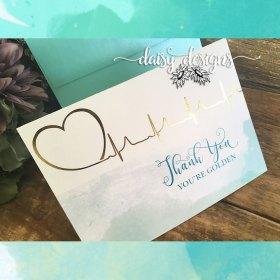You're Golden thank you card